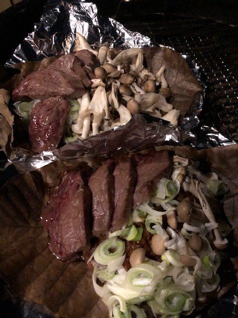 【岐阜の郷土料理】飛騨牛の朴葉味噌焼き
