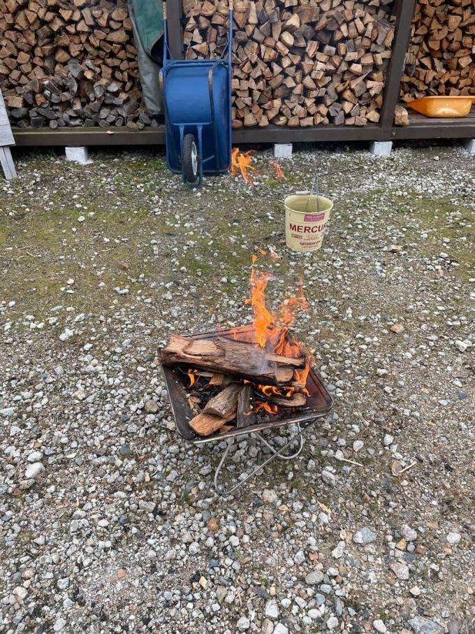 【薪束作り】焚き火用の束を作る