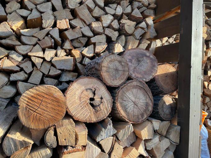 【でか薪】ハンパ薪丸太もそのまま乾燥する