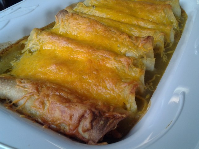 enchiladas with green sauce