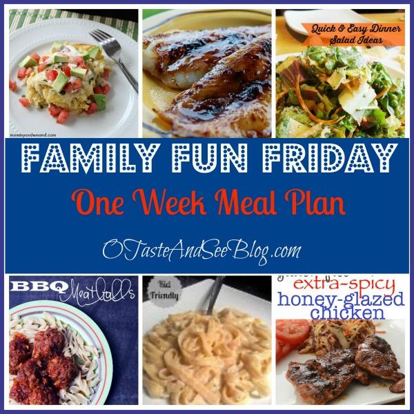 one week meal plan