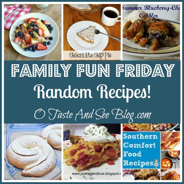 random recipes on family fun friday