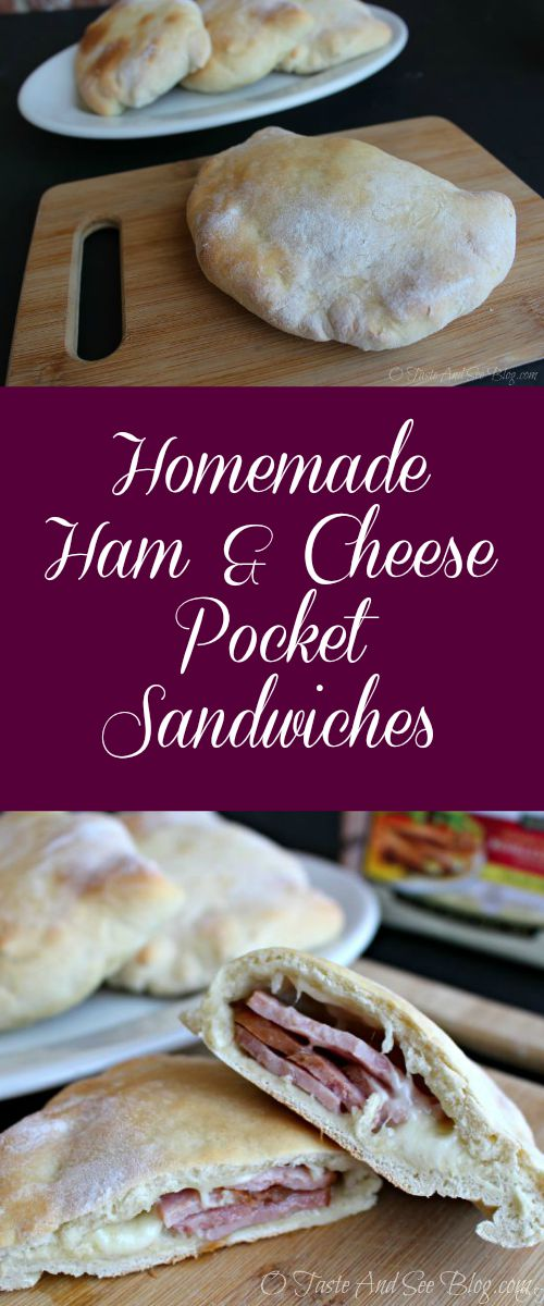 Homemade Ham and Cheese Pocket Sandwiches #ad