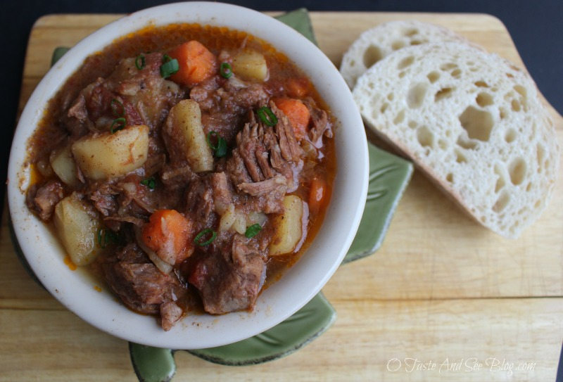 Crock Pot Beef Stew and Calphalon Cutlery Giveaway