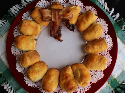 Kolache Christmas Wreath #joy2themeal ad