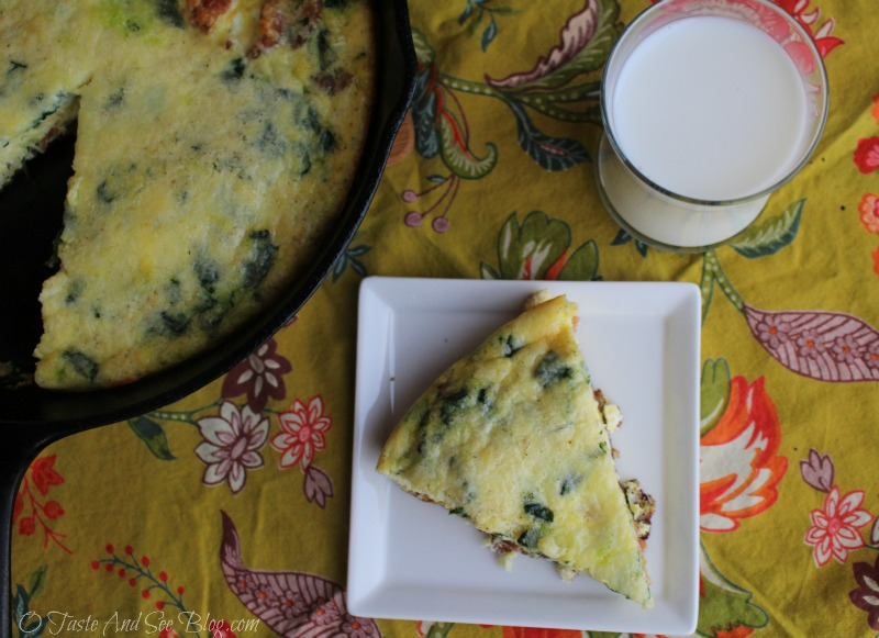 Bacon Spinach Frittata #mymorningprotein #ad