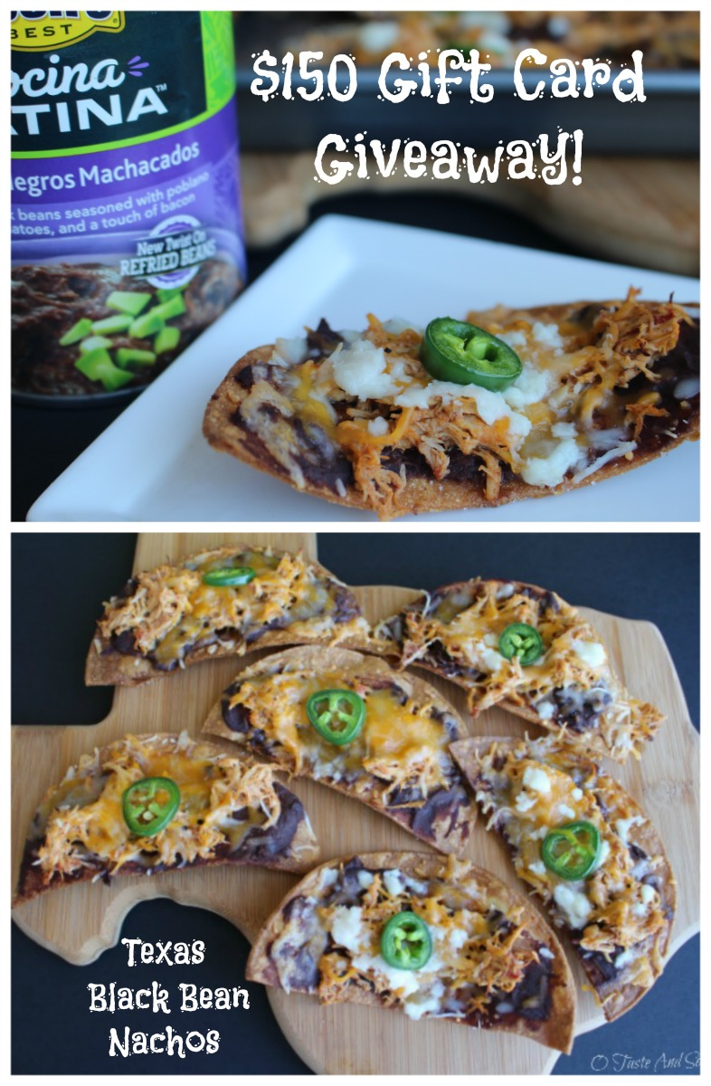 Texas Black Bean Nachos and GIVEAWAY #CocinaLatinaBeans #ad 2