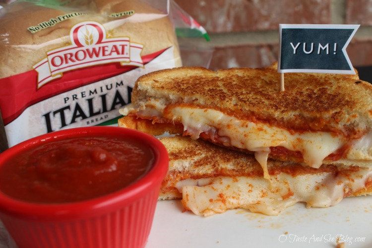 Pepperoni Pizza Grilled Cheese Sandwich #ad