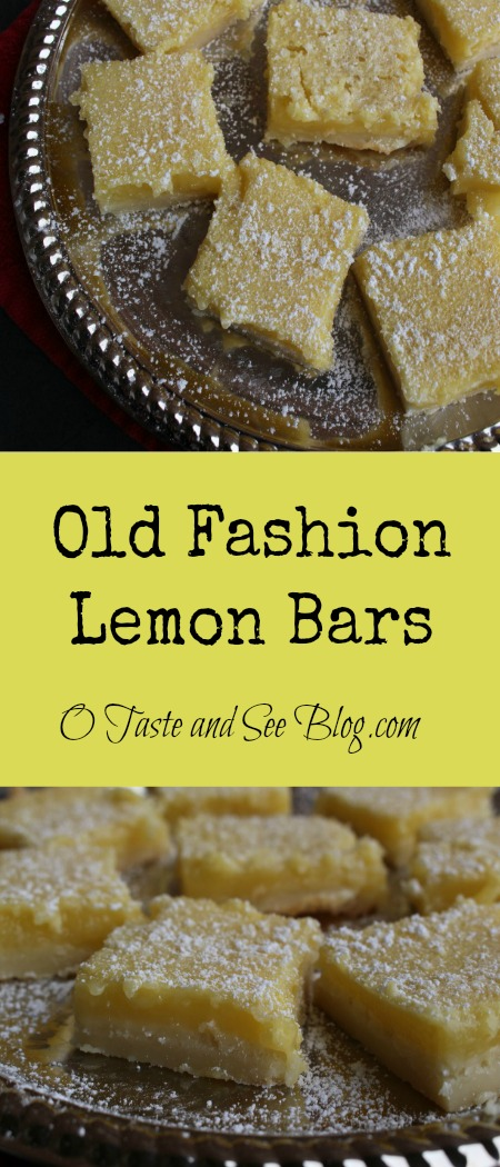 Old Fashion Lemon Bars Pinterest