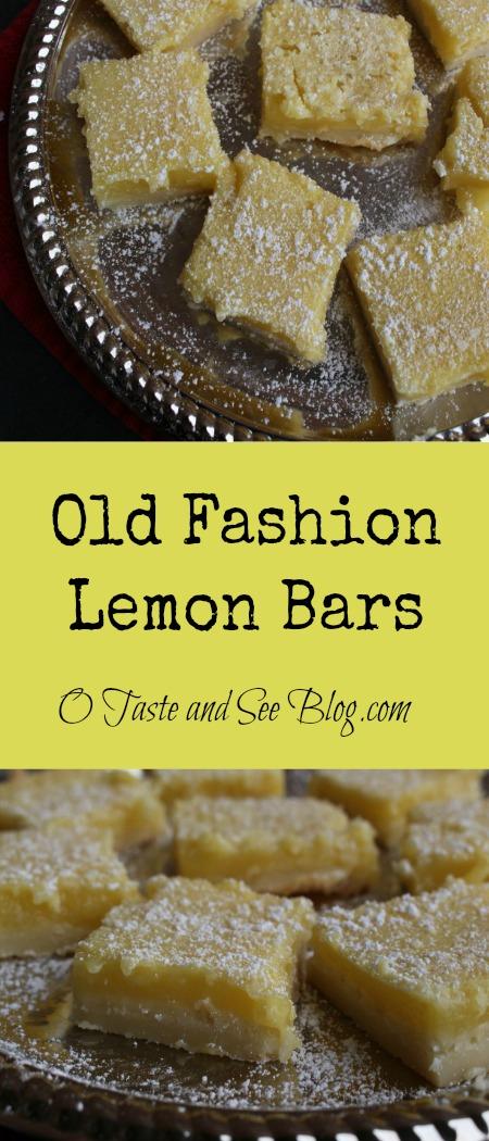 Old Fashion Lemon Bars Pinterest