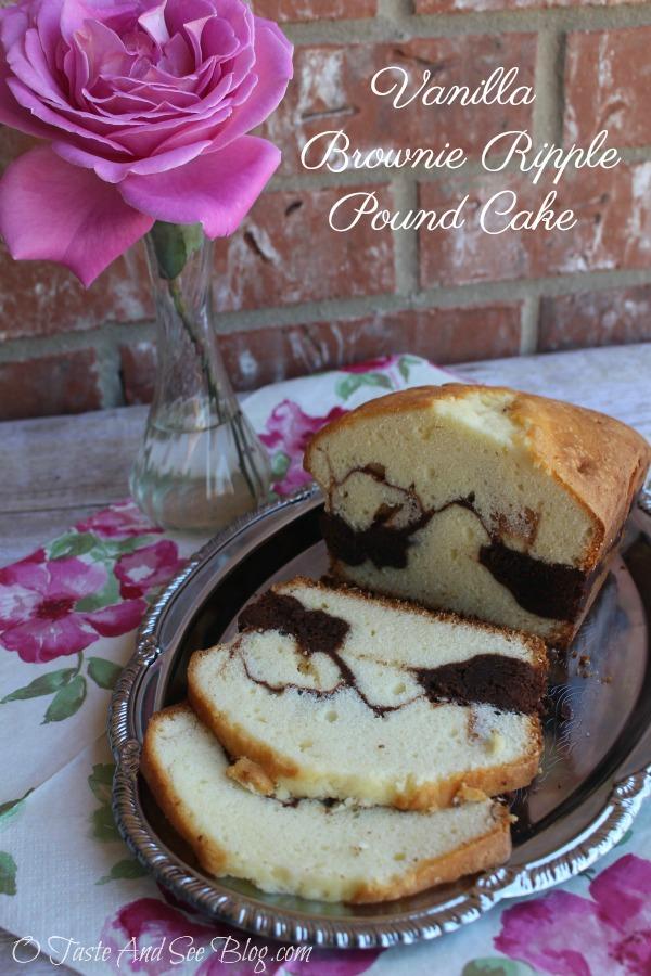 Vanilla Brownie Ripple Pound Cake