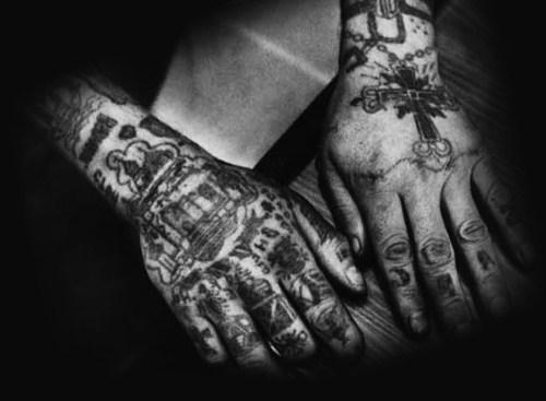 Tatuaże Więzienne Na Nadgarstku Tatuaże Złodziei I Ich