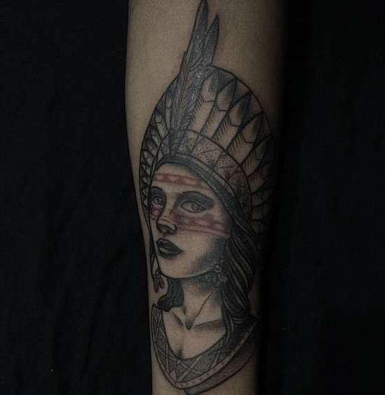 Индейский стиль татуировки