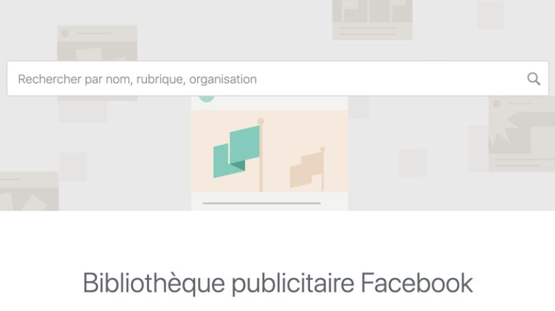 bibliotheque publicitaire facebook
