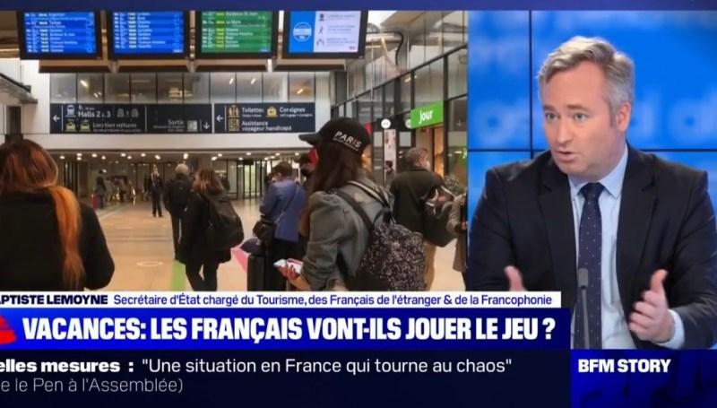 ean-Baptiste Lemoyne : « Soit vous partez pour 4 semaines, soit vous ne partez pas »