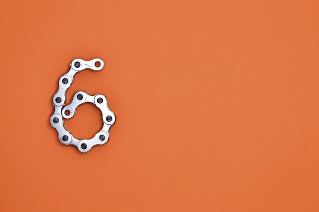 6 in bike chain