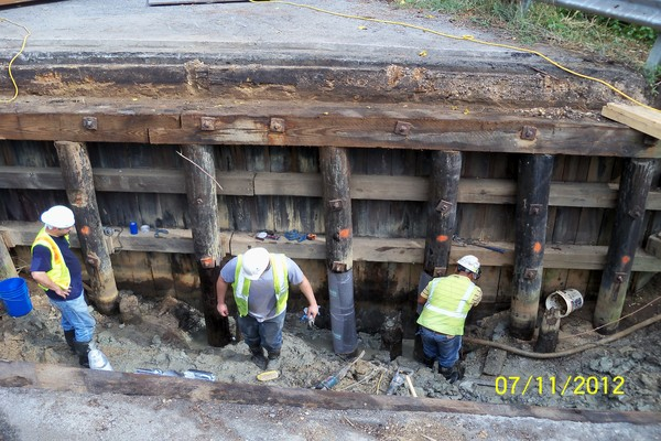 Melwood Rd over Cabin Branch Timber Pile Composite Repair#1JPG