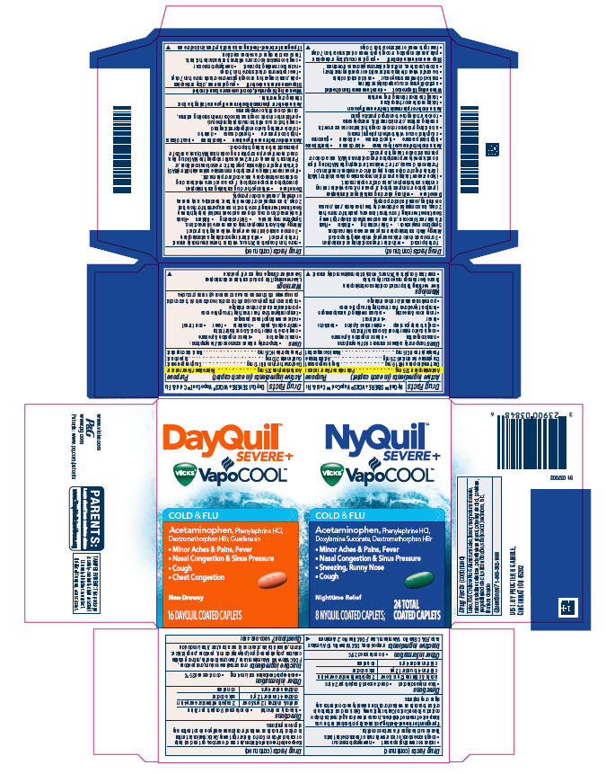 DayQuil and Nyquil Severe Plus Vicks VapoCool Cold and Flu ...