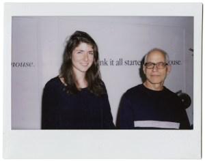 Julia Weist,With Haim Steinbach, 2014 (Fujifilm instant film)