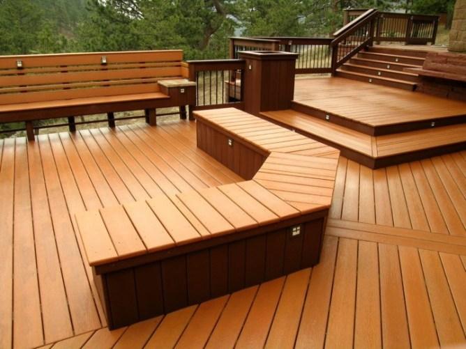 терраса двора выполненная древесно-полимерным композитом