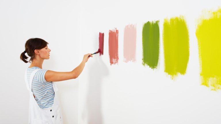краска стен и выбор цвета