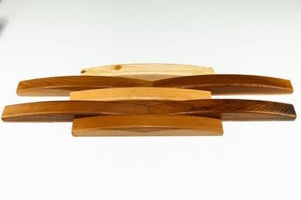 деревянная плитка в виде полусферы