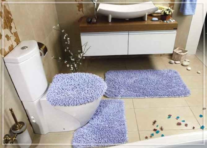 сиреневые коврики на пол ванную комнату