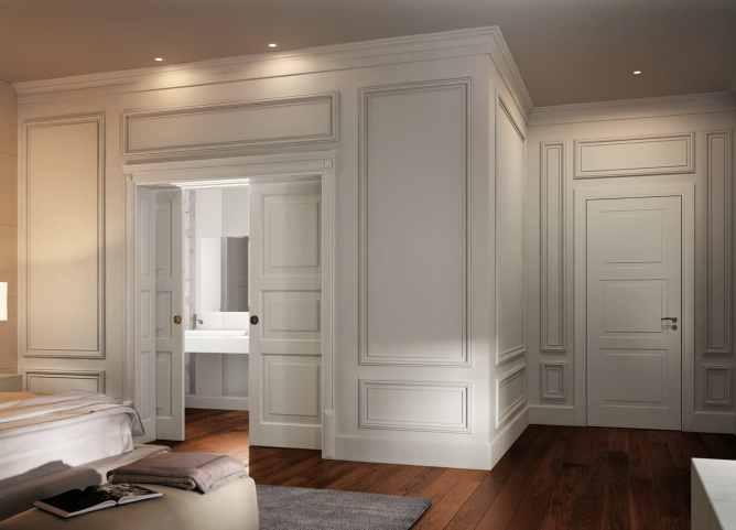 комната отделанная панелями баузери