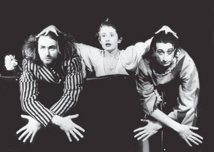 Андрей Казаков, Мадлен Джабраилова, Карэн Бадалов в «Двенадцатой ночи», 1990