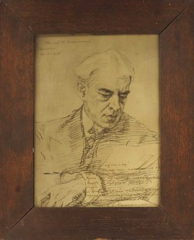 Серов, В.А. Портрет К.С. Станиславского. 1908 г. Бумага, литография
