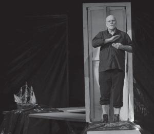 Владас Багдонас в спектакле Андрия Жолдака «Москва — Петушки» по поэме Венедикта Ерофеева, театр «Балтийский дом», Санкт-Петербург, 2010