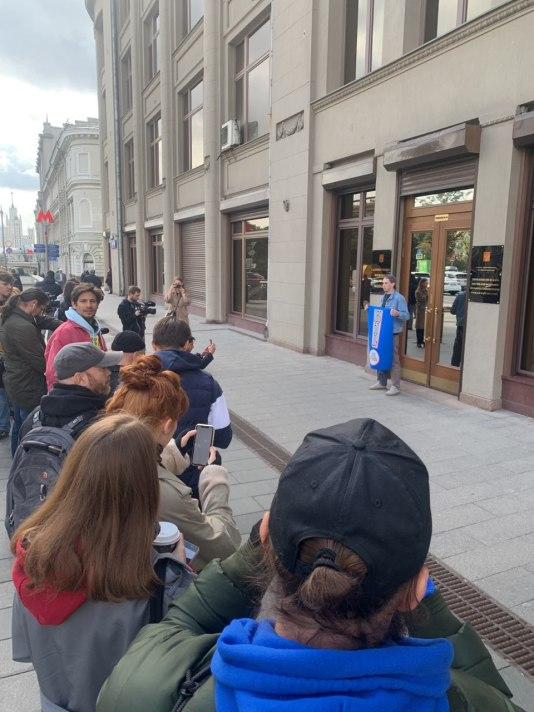 Одиночный пикет в поддержку Павла Устинова