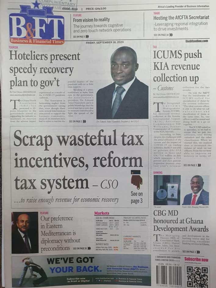 Newspaper headlines of Friday, September 18, 2020 99