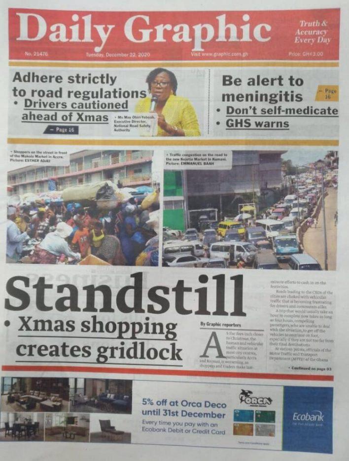 Newspaper headlines of Tuesday, December 22, 2020 23