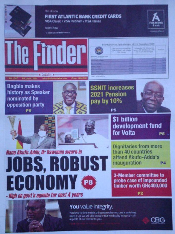 Newspaper headlines of Friday, January 8, 2020 53