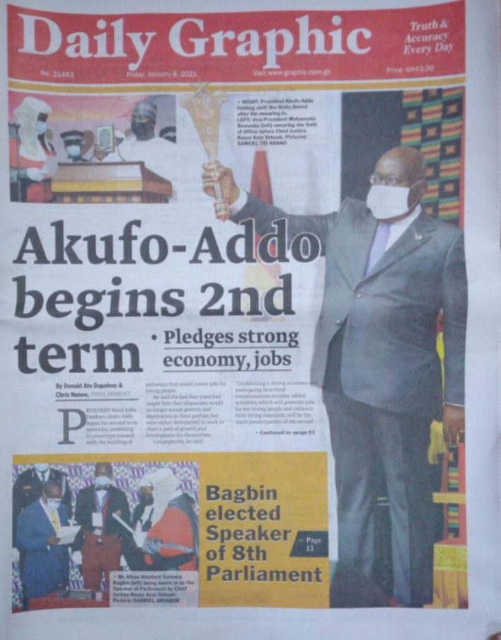 Newspaper headlines of Friday, January 8, 2020 50