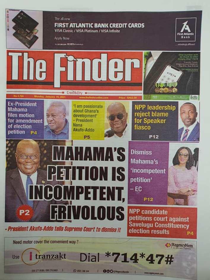 Newspaper headlines of Monday, January 11, 2021 70