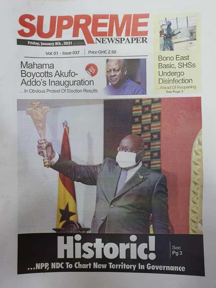 Newspaper headlines of Friday, January 8, 2020 55