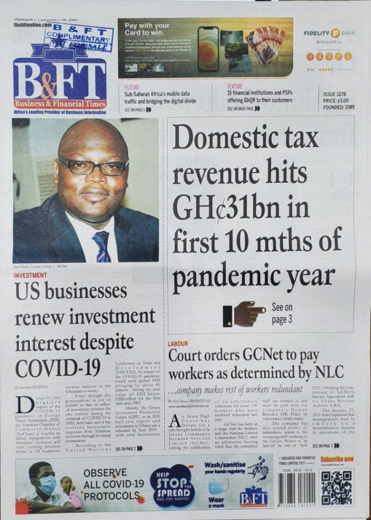 Newspaper headlines of Thursday, February 18, 2021 38