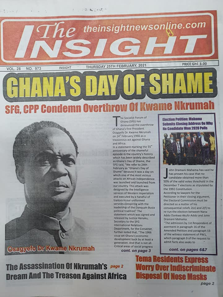 Newspaper headlines of Thursday, February 25, 2021 65