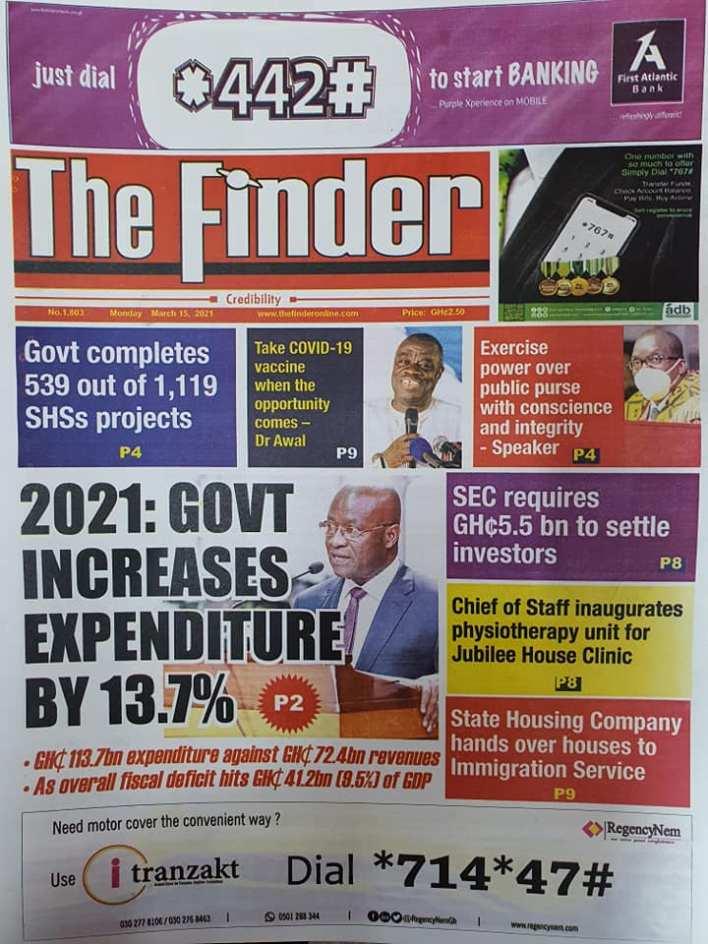 Newspaper Headlines of Monday, March 15, 2021 125