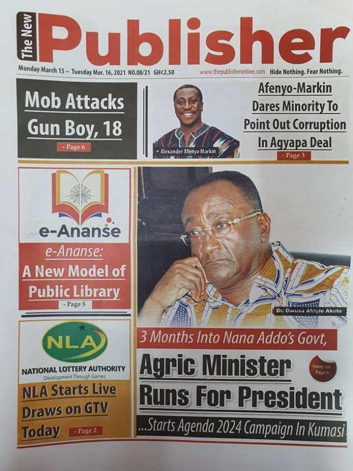 Newspaper Headlines of Monday, March 15, 2021 119