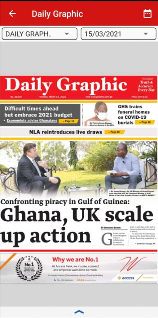 Newspaper Headlines of Monday, March 15, 2021 102