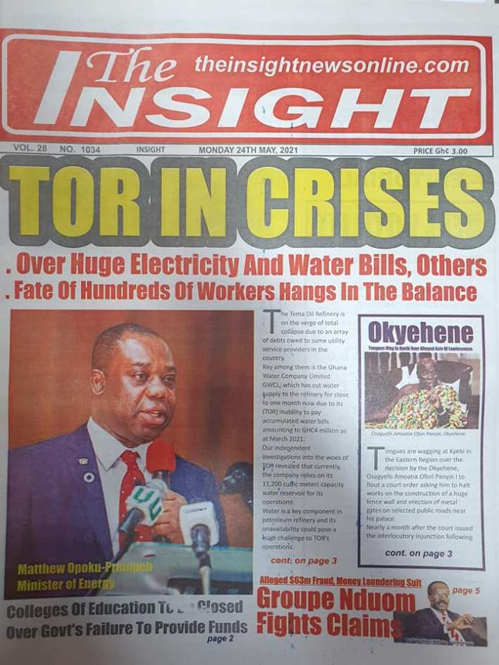 Today's Newspaper headlines: Monday, May 24th ,2021 9