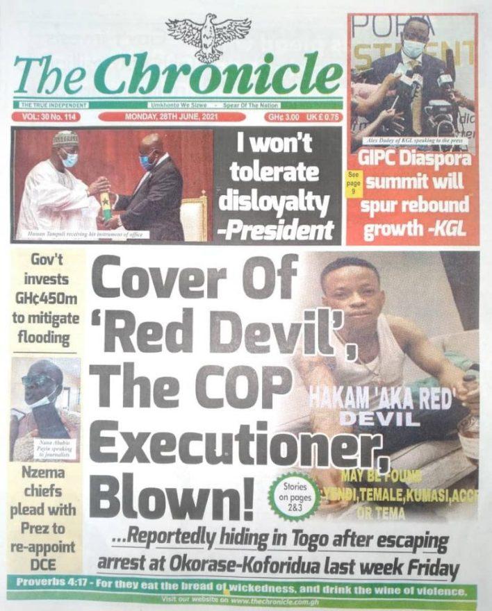 Newspaper headlines of Monday, June 28, 2021 3
