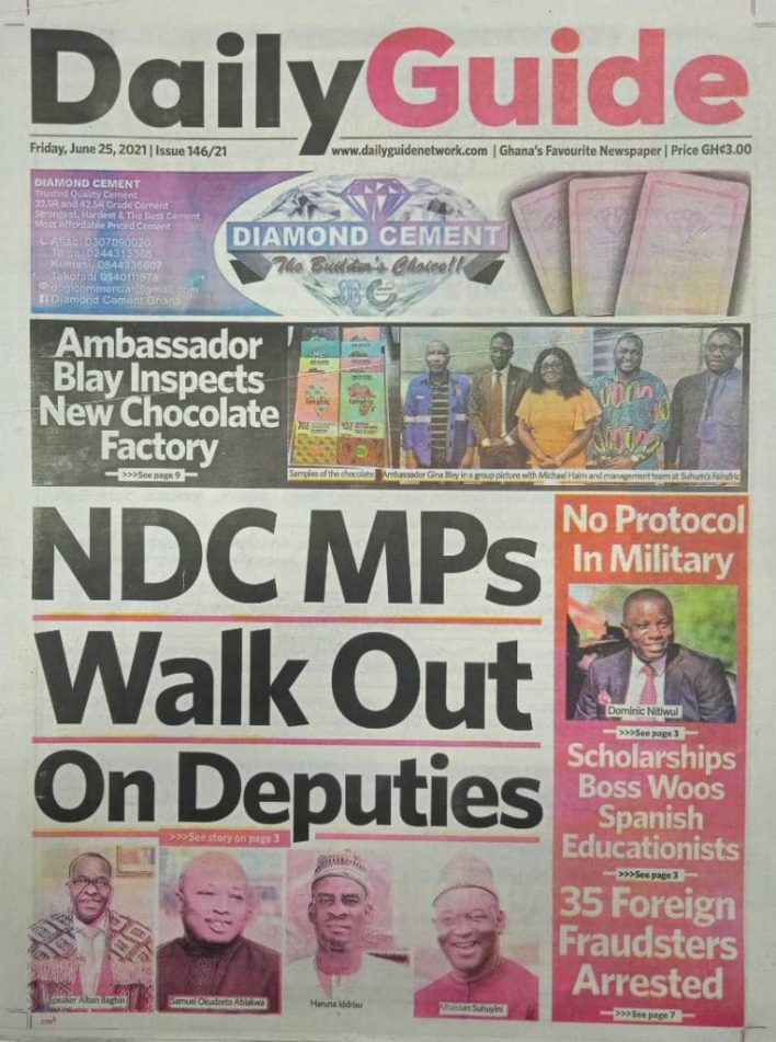 Newspaper headlines of Friday, June 25, 2021 22