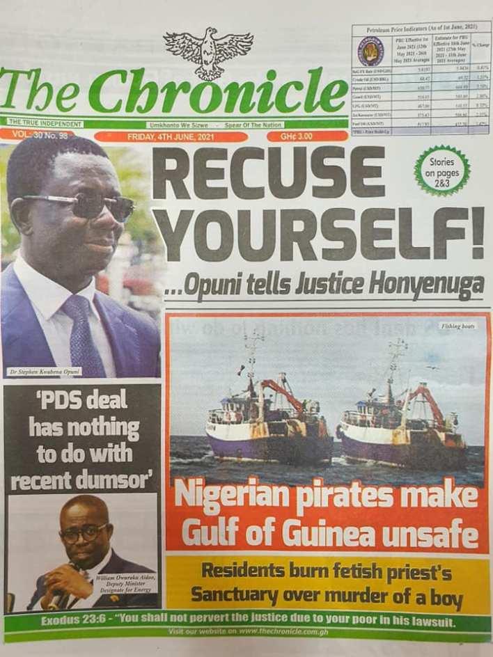 Newspaper headlines of Friday, June 4, 2021. 128