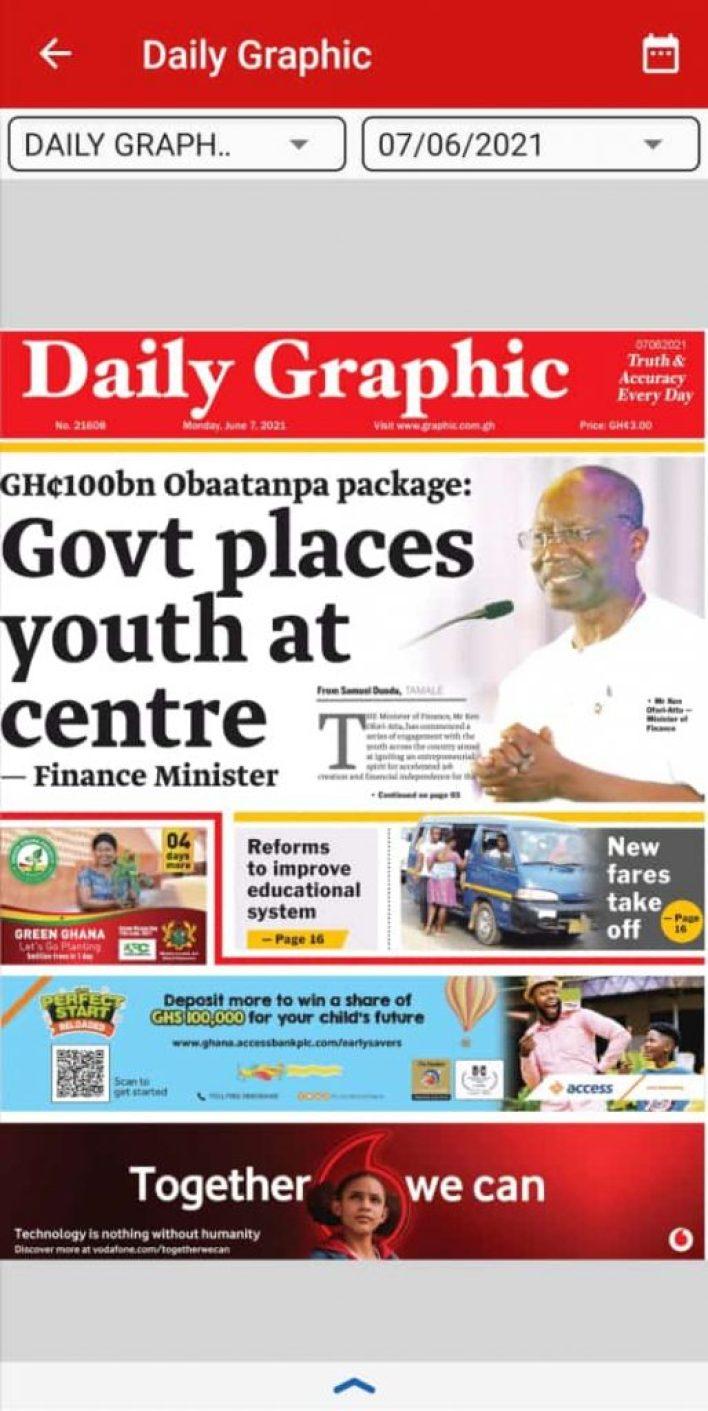 Newspaper headlines of Monday, June 7, 2021 2
