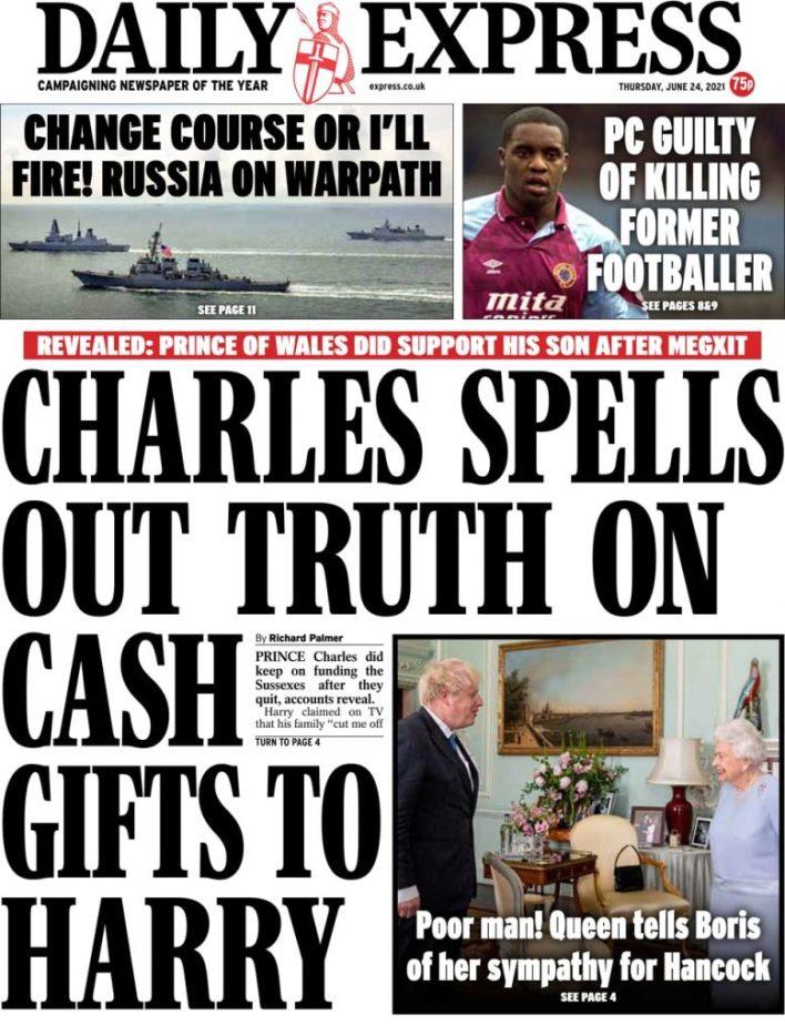 Newspaper headlines of Friday, June 25, 2021 17