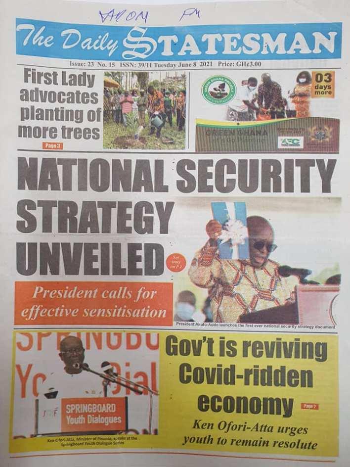 Newspaper Headlines Of Today June 8th 2021 7